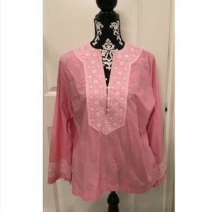 Land End Pink Boho Tunic